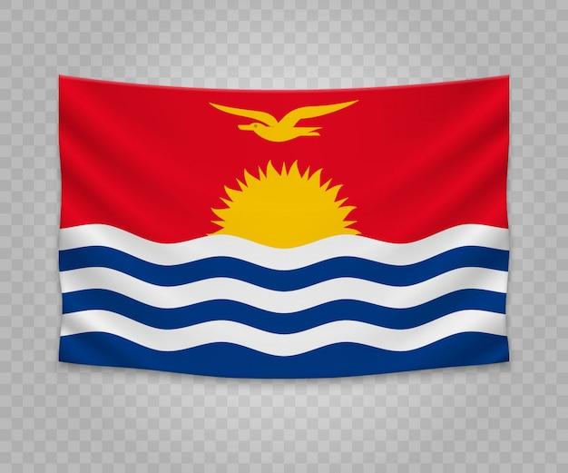Bandeira de suspensão realista de kiribati