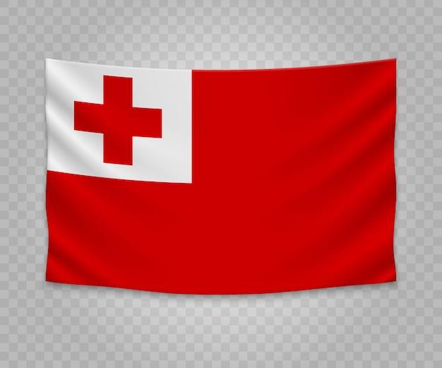 Bandeira de suspensão realista de tonga