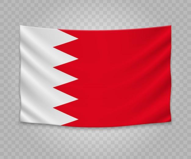 Bandeira de suspensão realista do bahrein