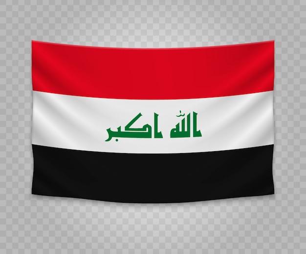 Bandeira de suspensão realista do iraque