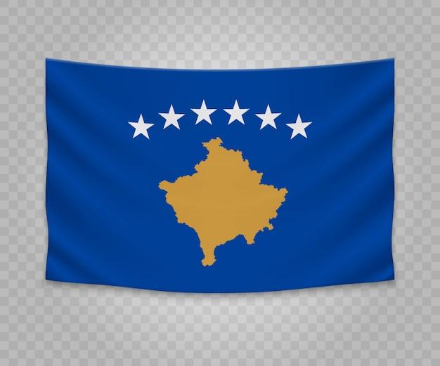 Bandeira de suspensão realista do kosovo