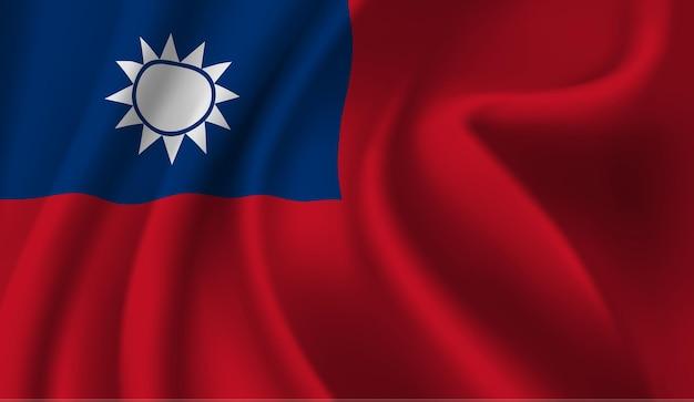 Bandeira de taiwan agitando a bandeira de taiwan fundo abstrato