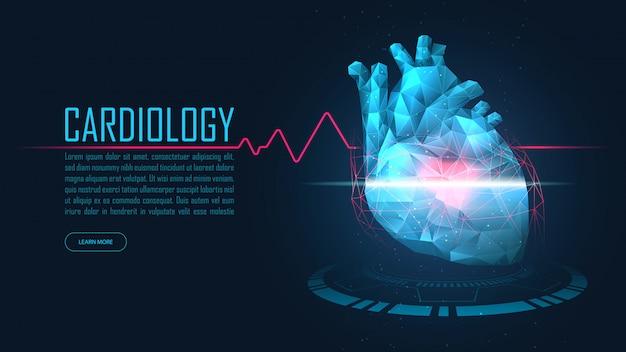 Bandeira de tecnologia de cardiologia