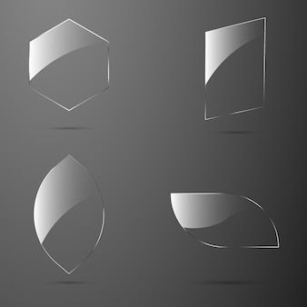 Bandeira de textura de vidro para web.