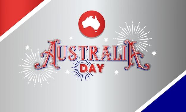 Bandeira de tipografia de dia de austrália