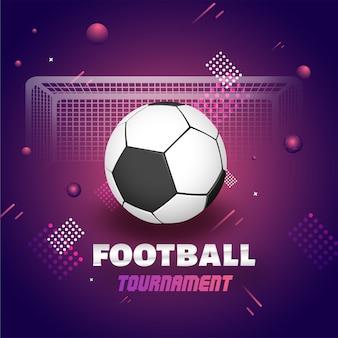 Bandeira de torneio de futebol ou design de cartaz