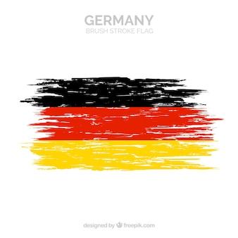 Bandeira de traçado de pincel da alemanha