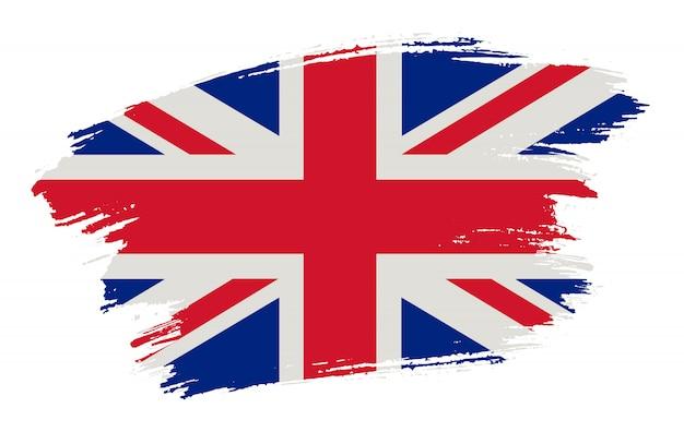 Bandeira de traçado de pincel do reino unido