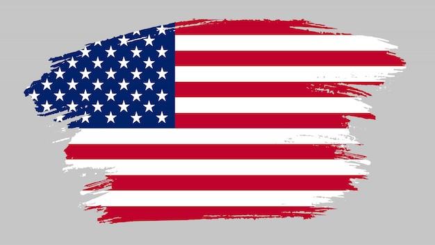 Bandeira de traçado de pincel dos estados unidos