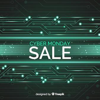 Bandeira de venda cyber segunda-feira
