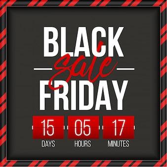 Bandeira de venda de oferta especial sexta-feira negra