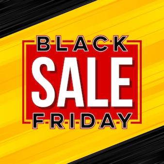 Bandeira de venda de oferta especial sexta-feira negra.