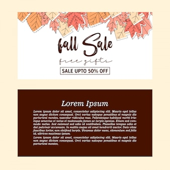 Bandeira de venda de outono outono