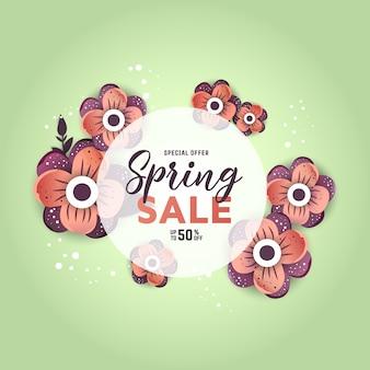 Bandeira de venda de primavera