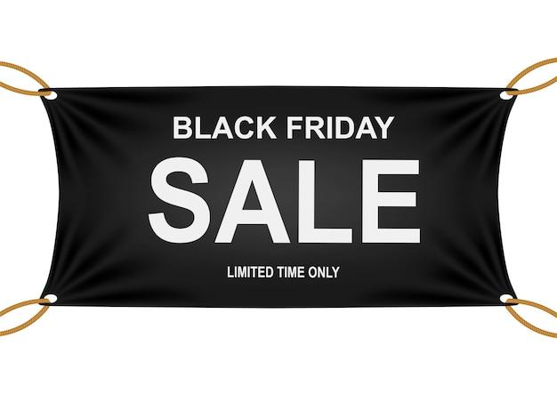 Bandeira de venda de sexta-feira negra.