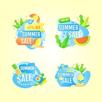 Bandeira de venda de verão fresco ilustração
