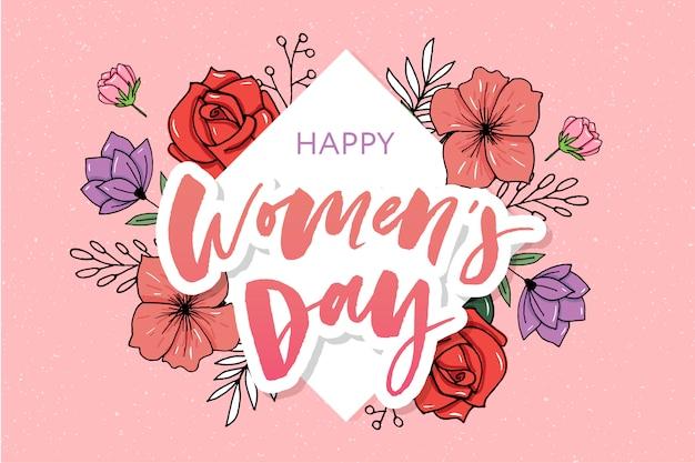 Bandeira de venda do dia da mulher feliz.