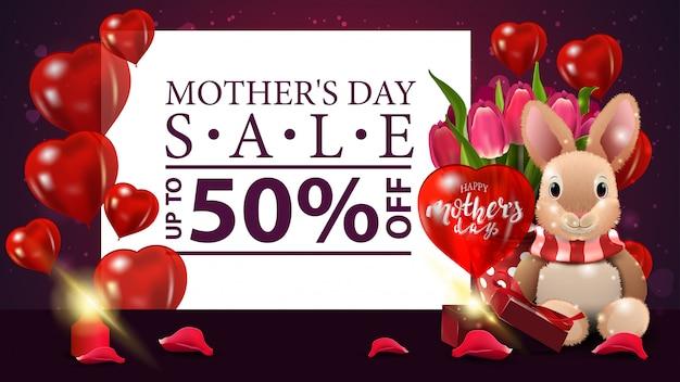 Bandeira de venda do dia das mães