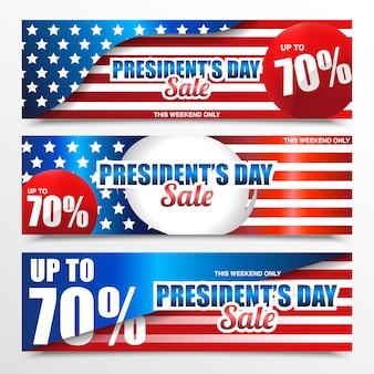 Bandeira de venda do dia do presidente