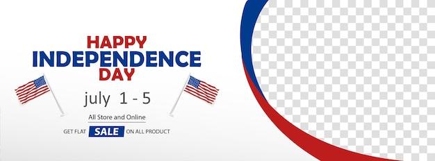 Bandeira de venda feliz eua dia da independência