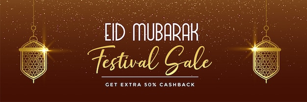 Bandeira de venda festival eid mubarak