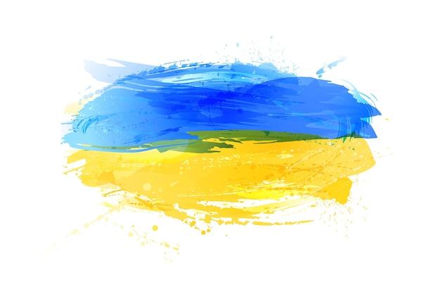 Bandeira de vetor da ucrânia feita com salpicos coloridos
