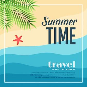 Bandeira de viagens do paraíso de praia de verão