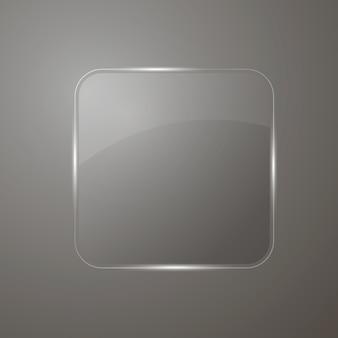 Bandeira de vidro refletindo