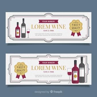 Bandeira de vinho liso