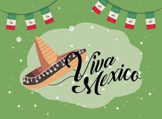 Bandeira de viva mexico