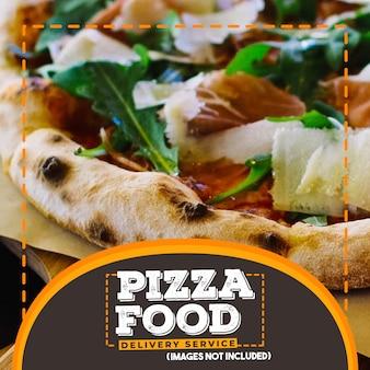 Bandeira de web quadrado de comida promocional moderna