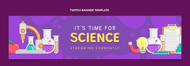 Bandeira desenhada à mão para ciência