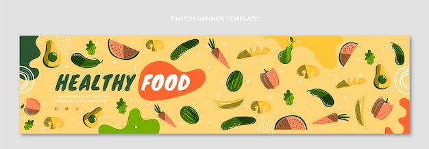 Bandeira desenhada à mão para comida