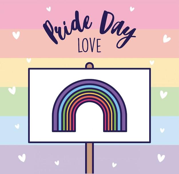 Bandeira do arco-íris do amor e do lgtbi do dia do orgulho