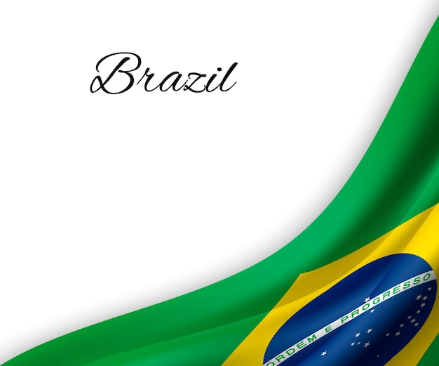 Bandeira do brasil em fundo branco.