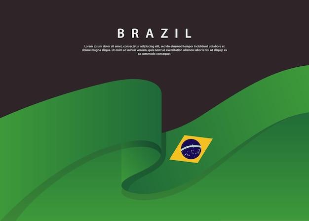 Bandeira do brasil fluindo bandeira da inglaterra em fundo preto modelo de ilustração vetorial