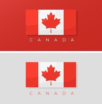 Bandeira do canadá definir conceito de ilustração