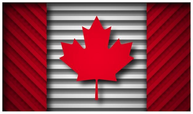 Bandeira do canadá em estilo de corte de papel