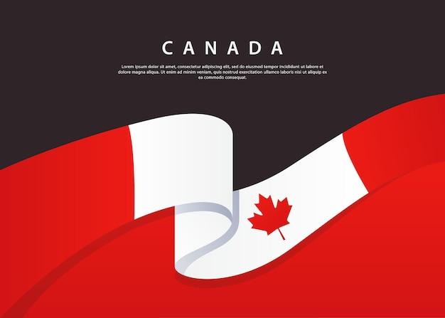 Bandeira do canadá fluindo bandeira da inglaterra em fundo preto modelo de ilustração vetorial