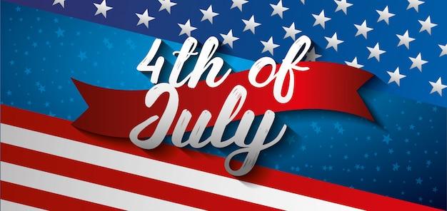 Bandeira do cartão do dia da independência