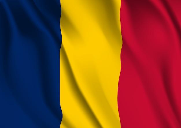 Bandeira do chade. bandeira do chade