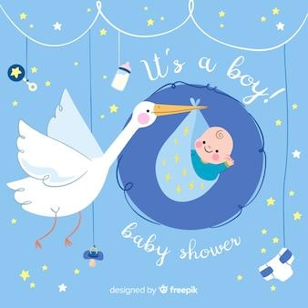 Bandeira do chuveiro de bebê