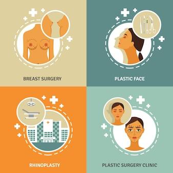 Bandeira do conceito de cirurgia plástica