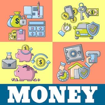 Bandeira do conceito de dinheiro