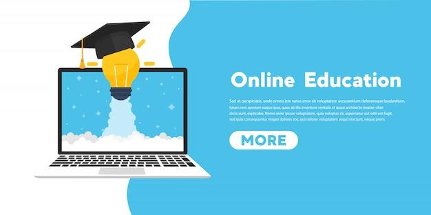 Bandeira do conceito de educação on-line