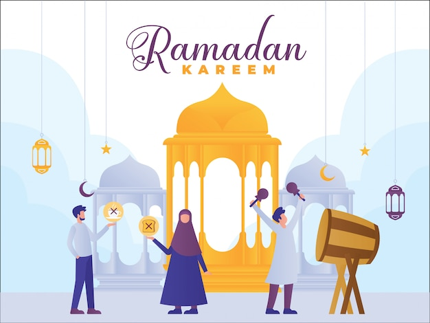 Bandeira do conceito de ramadan kareem