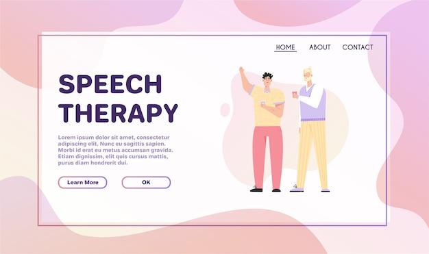 Bandeira do conceito de terapia da fala.