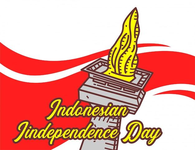 Bandeira do dia da independência indonésio