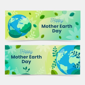 Bandeira do dia da mãe terra