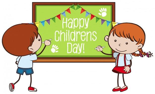 Bandeira do dia das crianças felizes